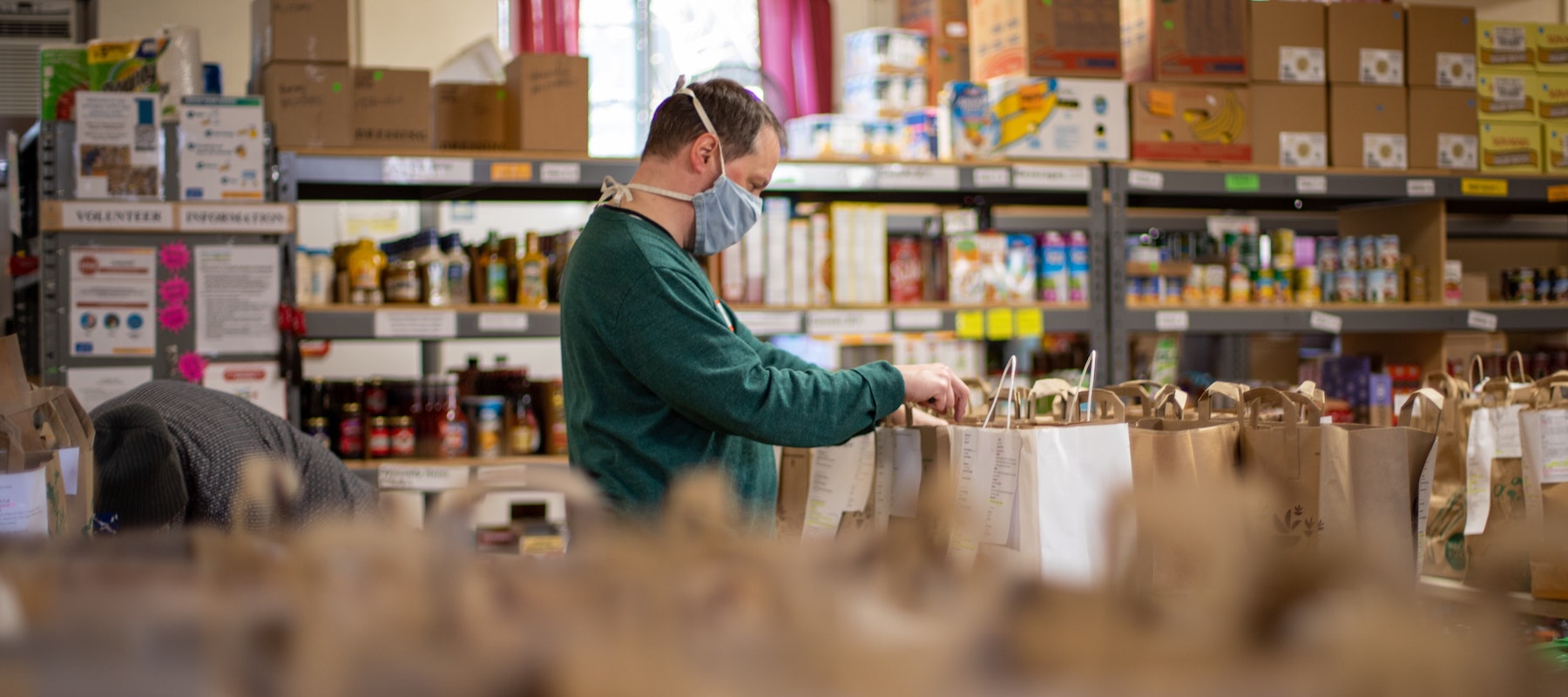 Heroic fundraising blog featured image food bank