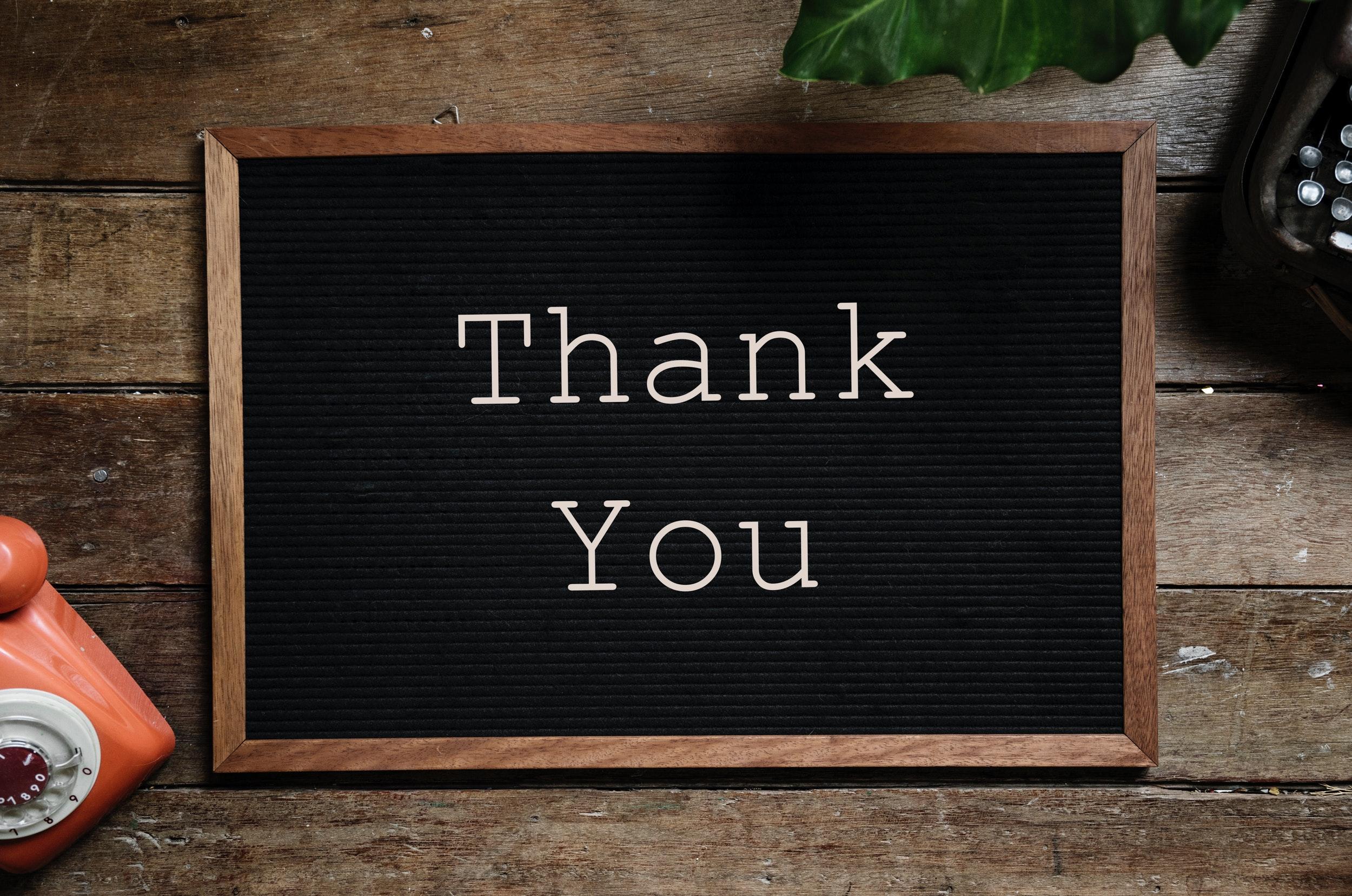 Thank you Donor Stewardship