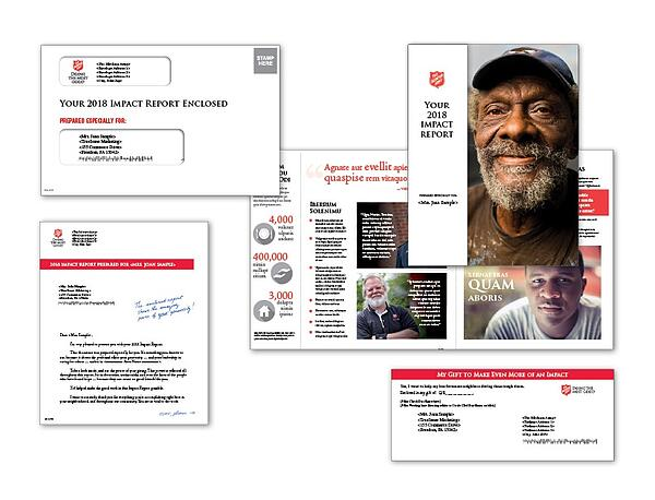 TrueSense Marketing The Salvation Army Donor Impact Report Package