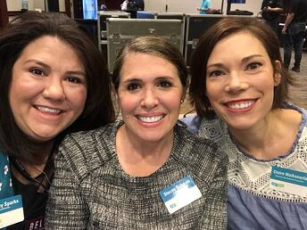 Lindsay Sparks Stacey Schwab and Claire Waiksnoris at TSA Conference 2016