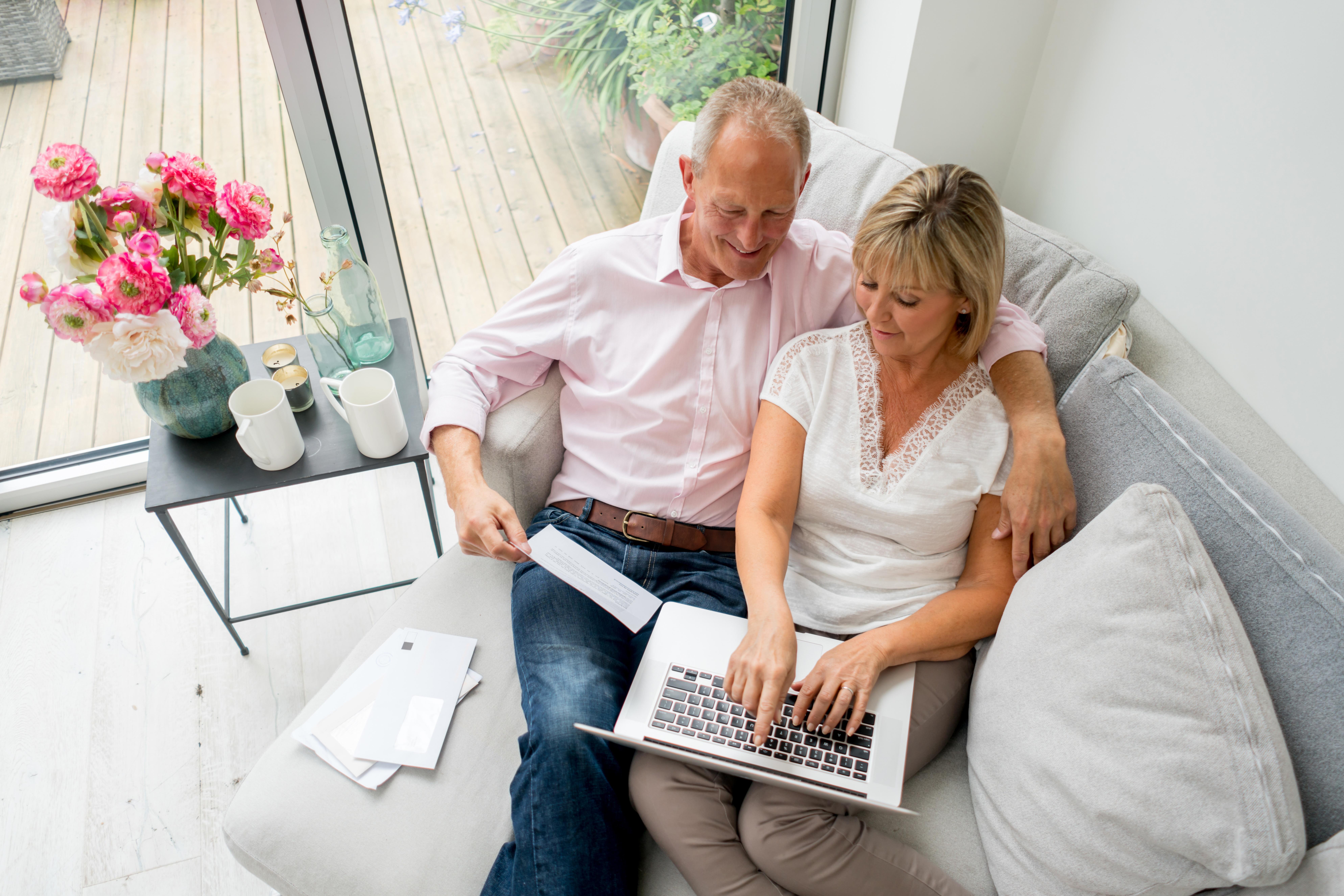 Senior Couple Direct Mail Digital Online